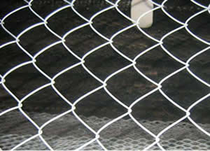 Chain link fence and urban traffic safety