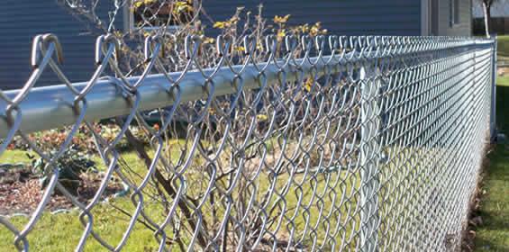 Aluminized steel or aluminum powder coated chain link fence