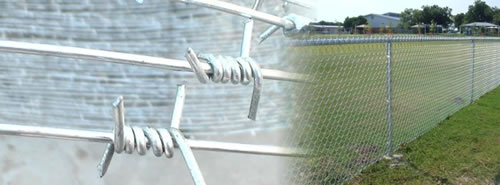 Chain Link Fence With Barbed Wire On Top Cost Gallery