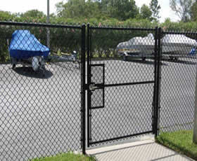 Vinyl coated gate, fitting for chain link fence panels