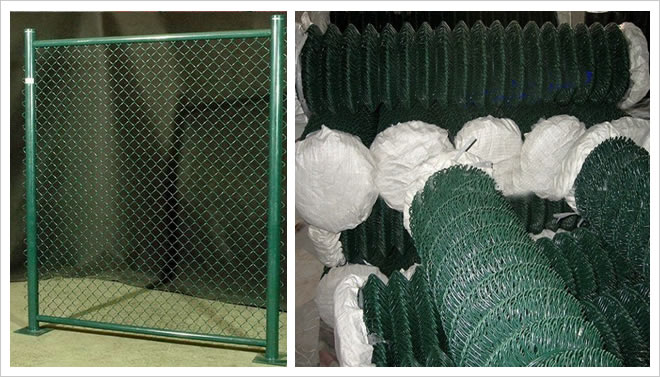 PVC Coated Electro Galvanized Chain Link Fence for Mobile Barrier Uses