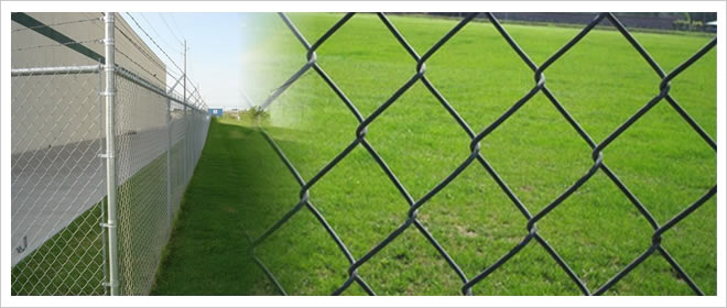 Plastic Coated Chain Link Fence for Security Uses