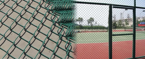Pvc Powder Coated Galvanized Steel Chain Link Fence