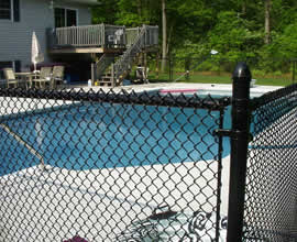 Black Vinyl Coated Steel Pool Safety Fence